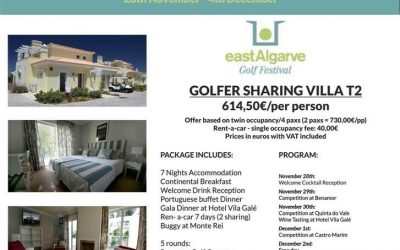 East Algarve Golf Festival 28th Nov' – 4th Dec' 2015