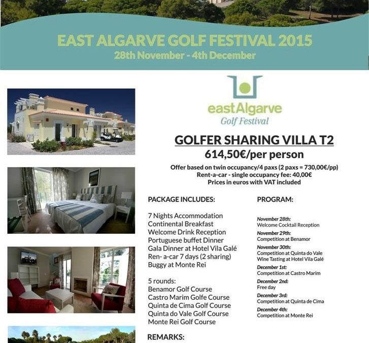 East Algarve Golf Festival 28th Nov' – 4th Dec' 2015